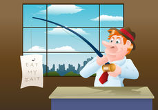 Businessman catch a banner Royalty Free Stock Photography