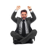 Businessman celebrates Stock Images