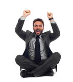 Businessman celebrates Royalty Free Stock Photo