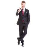 Businessman celebrates success Royalty Free Stock Image