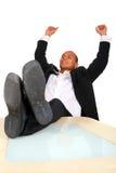 Businessman Celebrating Royalty Free Stock Photos