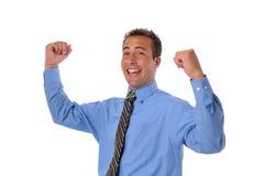 Businessman celebrating Royalty Free Stock Images