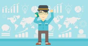 Businessman celebrating business success. Stock Images