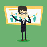 Businessman celebrating business success. Stock Photography