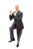 Businessman celebrating success Royalty Free Stock Image