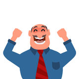 Businessman celebrating success or victory Stock Images