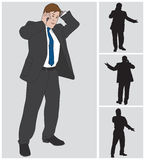Businessman on Cell 2 Royalty Free Stock Photos