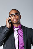 Businessman with cell phone Stock Photo