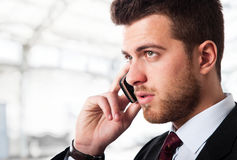 Businessman cell phone Stock Photo