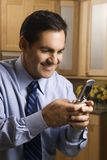 Businessman on cell phone. Stock Images
