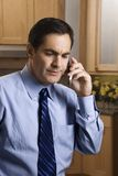 Businessman on cell phone. Royalty Free Stock Image