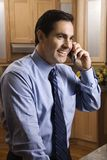 Businessman on cell phone. Royalty Free Stock Photography