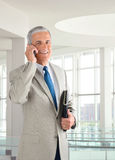 Businessman on Cell Phone Royalty Free Stock Photos