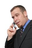 Businessman on the cell phone Royalty Free Stock Photo