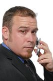 Businessman on the cell phone Royalty Free Stock Images