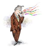 Businessman cell phone Stock Images