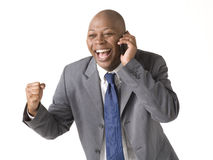Businessman on cell phone Royalty Free Stock Photography