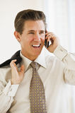 Businessman on cell phone Stock Photography