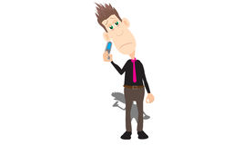Businessman on Cell Phone Royalty Free Stock Image