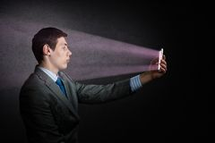 Businessman with a cell phone Stock Photo