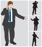 Businessman on Cell Stock Image