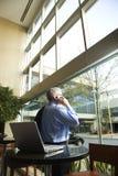 Businessman on Cellphone. Stock Photo