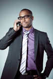 Businessman with cellphone Royalty Free Stock Photos