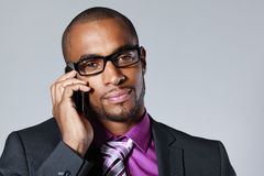 Businessman with cellphone Royalty Free Stock Image