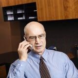 Businessman on cellphone Stock Photos