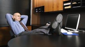 Businessman on cellphone Royalty Free Stock Photos