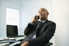 Businessman on cellphone. Stock Photos