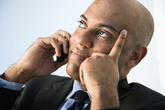 Businessman with cellphone. Royalty Free Stock Photography