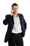 Businessman with cellphone  Stock Photo