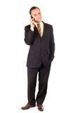 Businessman and cellphone Royalty Free Stock Photography