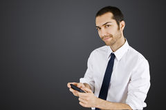 Businessman cellphone Royalty Free Stock Photo