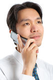 Businessman with cellular Stock Image