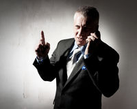 Businessman with a cellular phone Stock Photography