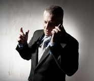 Businessman with a cellular phone Royalty Free Stock Photography
