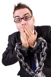 Businessman with chain isolated Stock Images