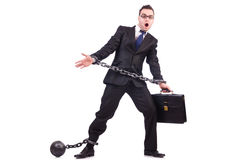 Businessman with chain isolated Stock Image