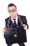 Businessman with chain isolated Royalty Free Stock Photo