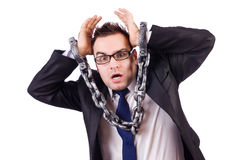 Businessman with chain isolated Stock Photos