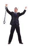 Businessman with chain Stock Photo