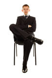 The businessman on the chair Royalty Free Stock Photos
