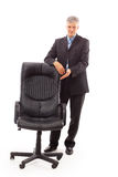 businessman and chair royalty free stock photo