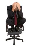 Businessman on a chair. Royalty Free Stock Photos