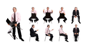 Businessman with chair Stock Photo
