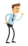 Businessman in challlenging pose icon. Flat design businessman in challenging pose  illustration Stock Image