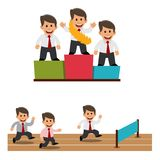 Businessman champion. Competition. Winner. Businessman champion. Winner. Success.Vector illustration Stock Photo