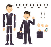 Businessman character animation Stock Images